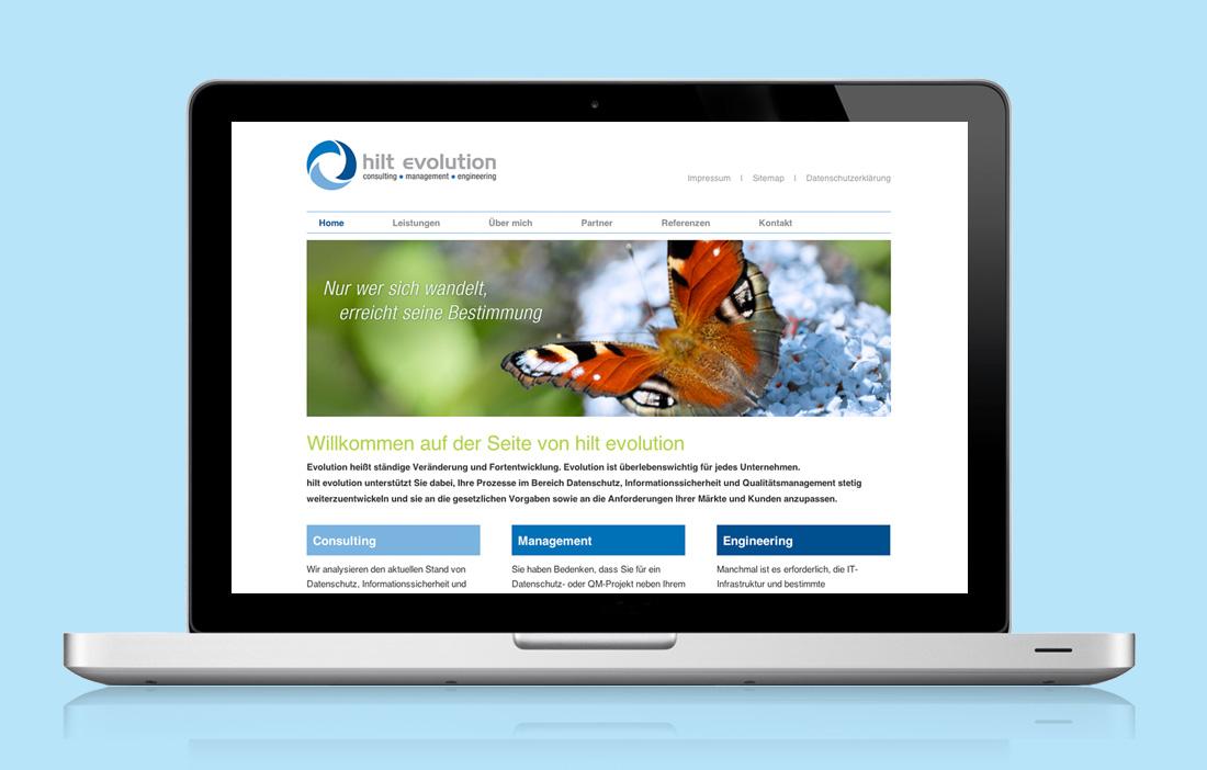 Web-Design für eine neugegründete IT Firma