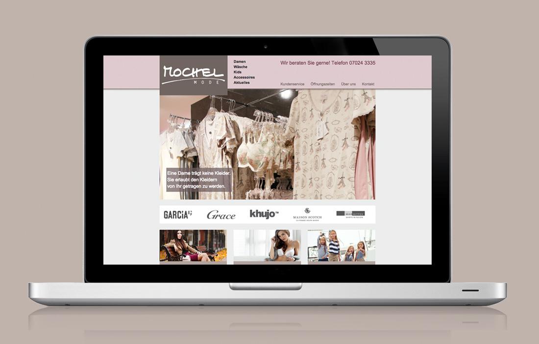 Webdesign für ein Modegeschäft